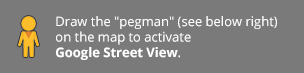 Draw the pegman on the map to activate Google Street View.